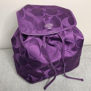 Purple Coach Backpack